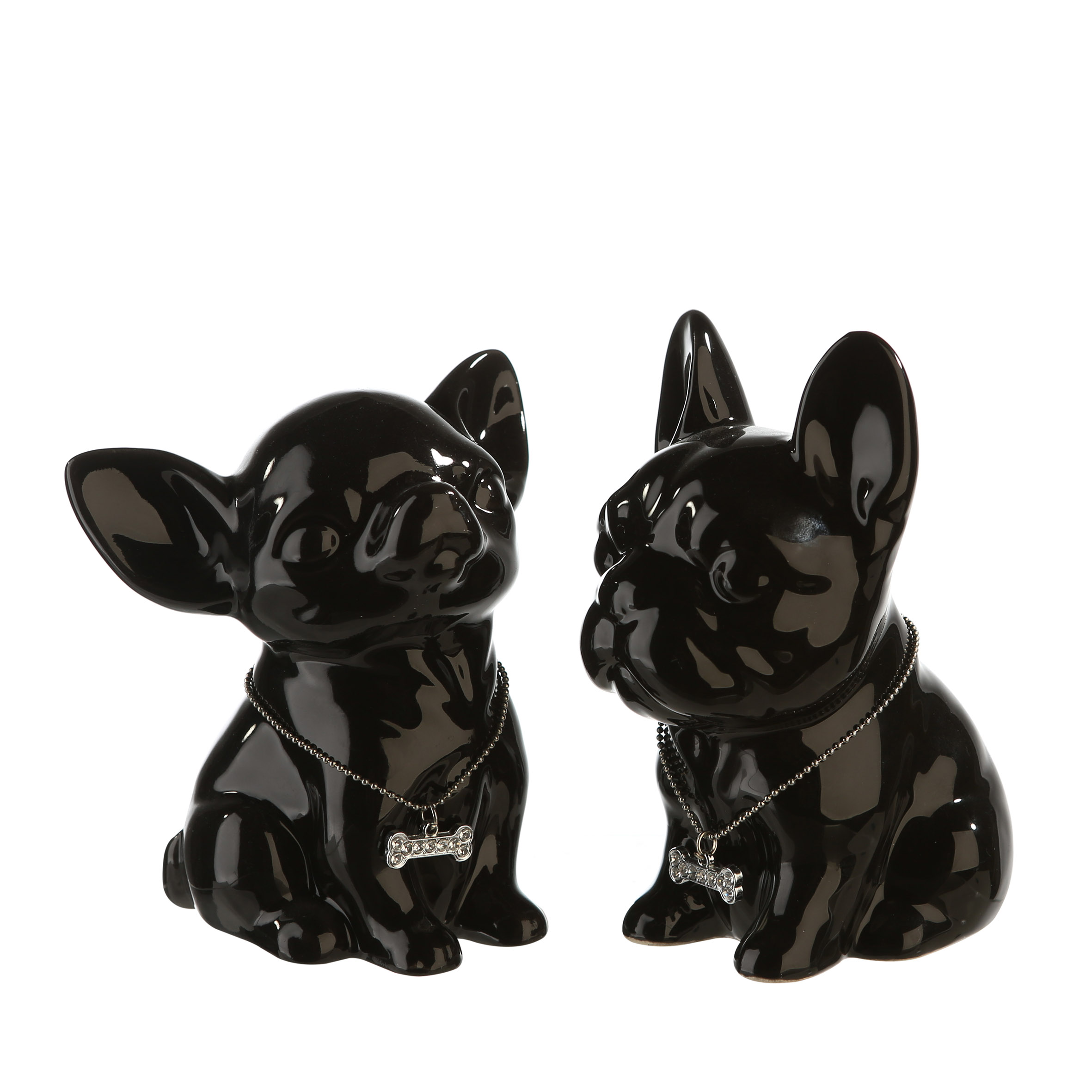 Casablanca-Spardosen-Spardose-Mini-Dog-Keramik-schwarz